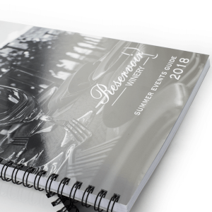 A4 Wirebound with 350gsm Laminated Cover