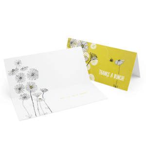 4pp DL folded to DL Greeting Card 350gsm Uncoated