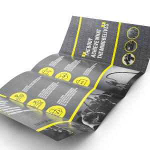 150gsm 8pp DL Roll Fold Brochure Gloss