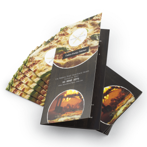 Menu A4 Roll folded to DL 350gsm Gloss