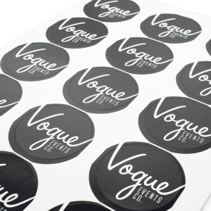 Round Stickers on Sheets Gloss