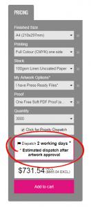 Dispatch Estimate
