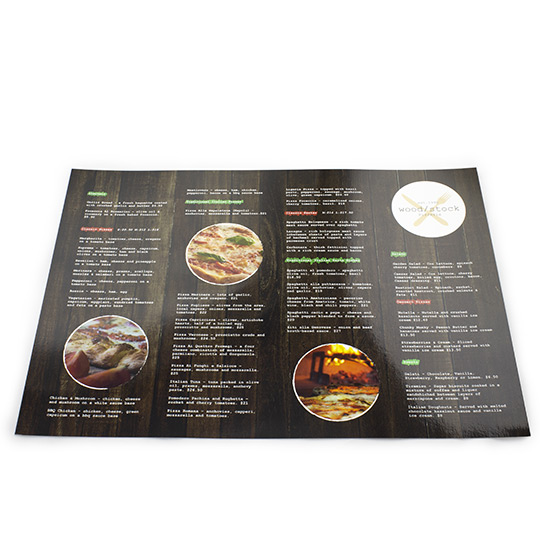 Flat Laminated Table Menu