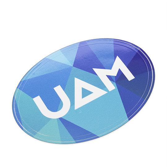 Oval Vinyl Sticker