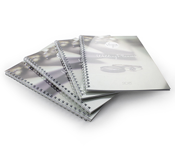 Wire Bound books with Clear PVC + 350gsm printed covers