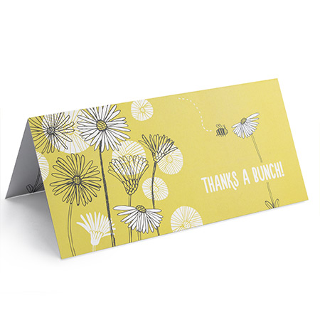 4pp DL folded Greeting Card 350gsm Uncoated