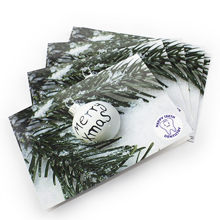 4pp A5 folded Greeting Card Gloss Laminate