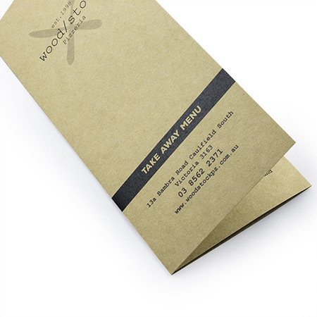 A4 Folding to DL Menu Kraft Paper