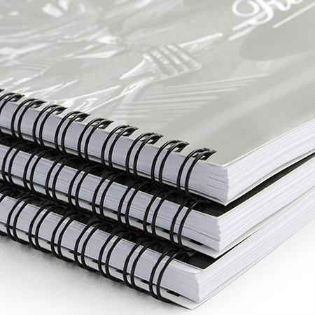 A4 Wire Bound 350gsm Laminated Covers