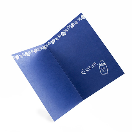 4pp A6 folded Greeting Card Uncoated
