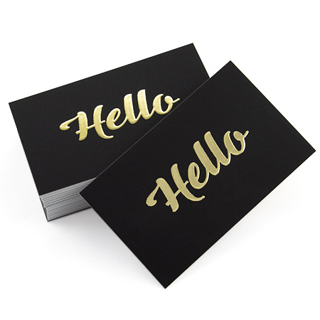 Business Cards 90x55mm Raised Metal Gold