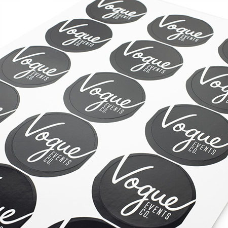 Gloss Round Stickers on Sheets