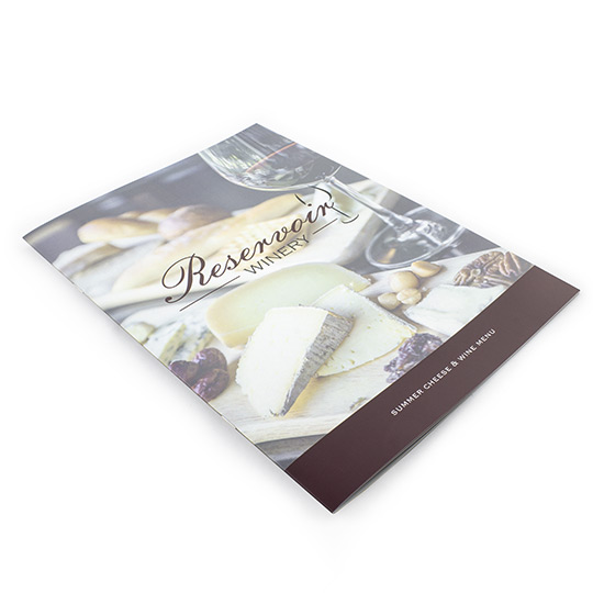 A4 Saddle Stitch 350gsm Hard Cover + Laminate