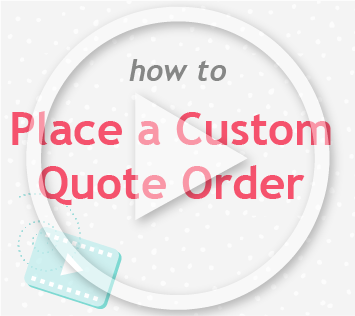 How to place a custom quote order